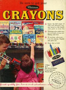 1965 Whitman Crayons Ad