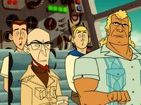 Venture Bros. in plane from opening