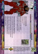TRA Trading Card 32 back