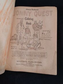 Whitman 1965 coloring book re-release copyright