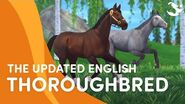 Meet the UPDATED English Thoroughbred! 🐎💨❤️