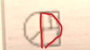 Fridge door - symbol, letter D