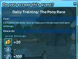 Daily Training: The Pony Race