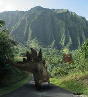 Jurassic park stegosaurus by halfpennyro04
