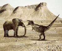 T-rex vs Elephant