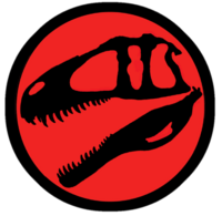 Jurassic Park Acrocanthosaurus logo