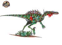 Injured Spinocharoraptor by hellraptor