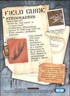 2001 Jurassic Park III 3-D 63 Stegosaurus back