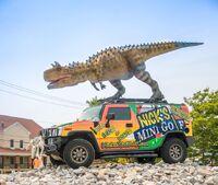 Dino golf carnotaurus
