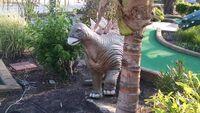 Jurassic golf baby stegosaurus