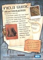 2001 Jurassic Park III 3-D 61 Brachiosaurus back