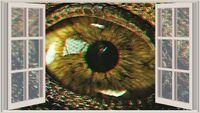 JP T-Rex eye 3D through the window