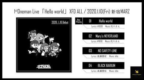 Full XFD f606 1stOnemanLive「Hello world」
