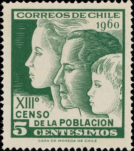 Chile 1960 13th Population Census and 2nd Housing Census