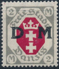 """Danzig 1921 Issues from 1921-1922 Overprinted """"D M"""" m.jpg"""