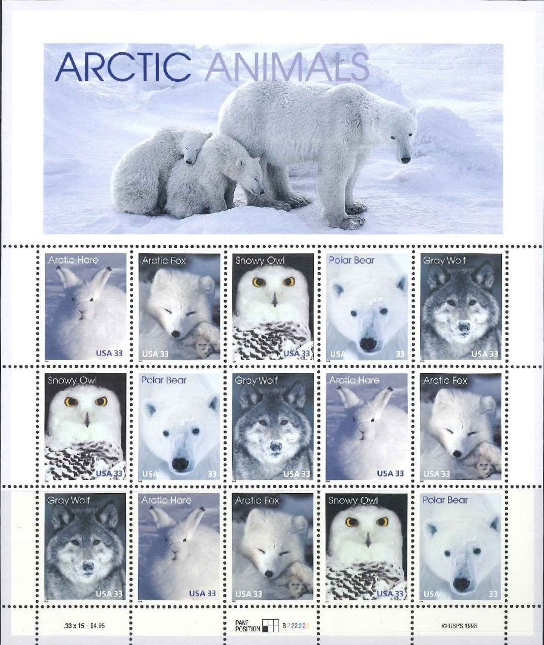 United States of America 1999 Arctic Animals Sa.jpg