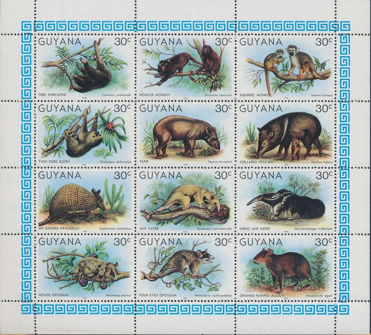 Guyana 1981 Wildlife