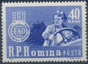 """Romania 1963 FAO """"Freedom from Hunger"""" Campaign"""