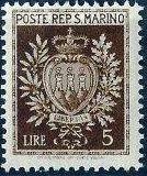 San Marino 1945 Coat of Arms j.jpg