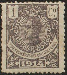 Spanish Guinea 1914 Alfonso XIII