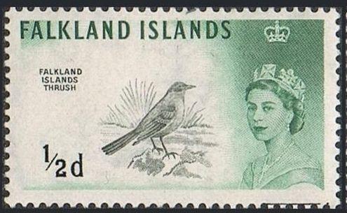 Falkland Islands 1960 Queen Elizabeth II and Birds
