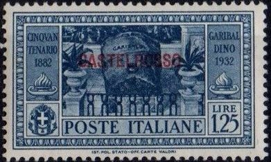 Italy (Aegean Islands)-Castelrosso 1932 50th Anniversary of the Death of Giuseppe Garibaldi g.jpg