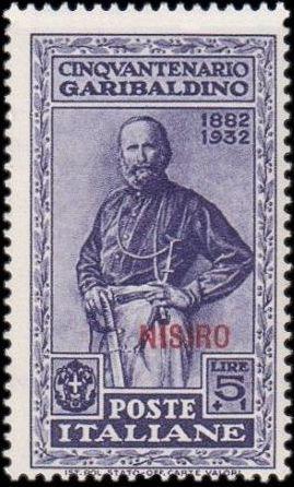 Italy (Aegean Islands)-Nisiro 1932 50th Anniversary of the Death of Giuseppe Garibaldi j.jpg