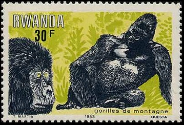 Rwanda 1983 Mountain Gorilla f.jpg
