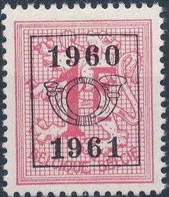 Belgium 1960 Heraldic Lion with Precanceled Number m.jpg