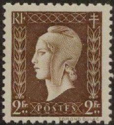France 1945 Marianne de Dulac (2nd Issue) j.jpg