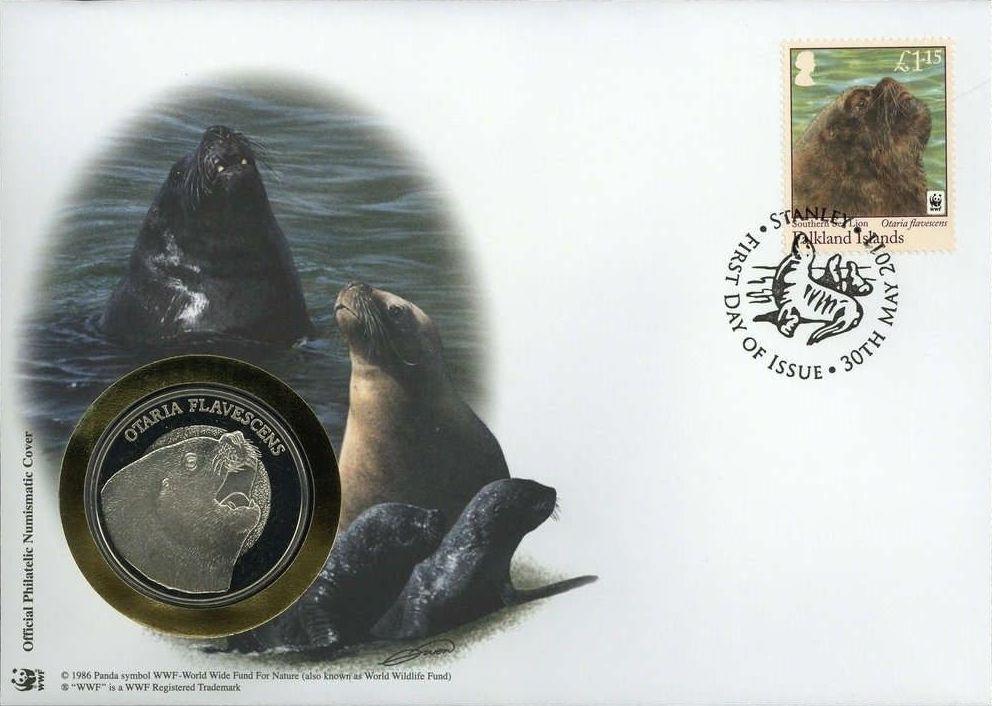 Falkland Islands 2011 WWF - The Southern Sealion FDCi.jpg
