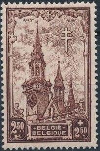 Belgium 1939 Anti Tuberculosis - Belfries g.jpg