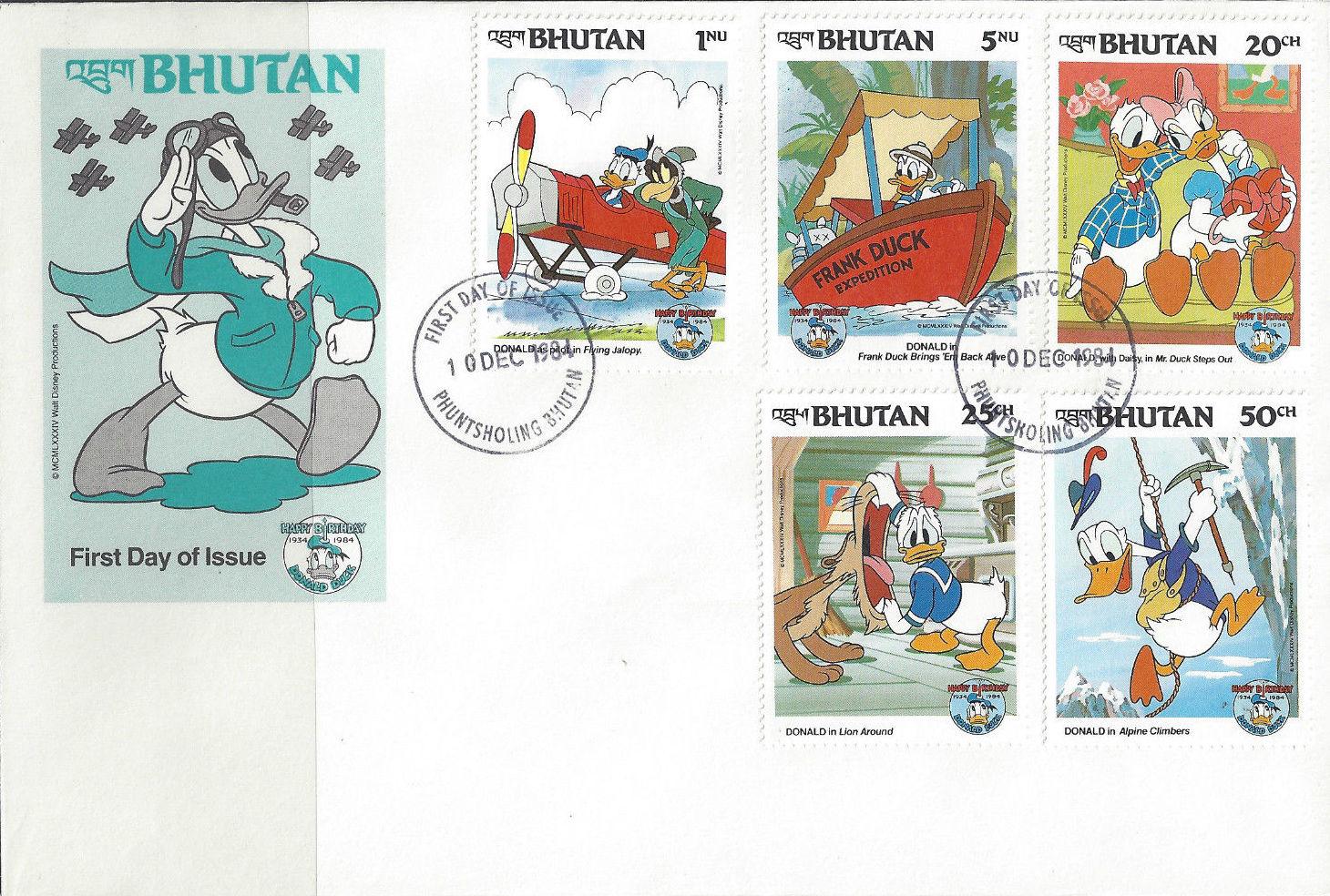 Bhutan 1984 50th Anniversary of Donald Duck k.jpg