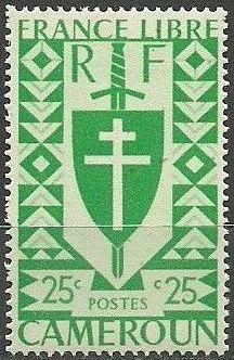 Cameroon 1941 Lorraine Cross and Joan of Arc Shield b.jpg
