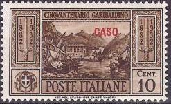 Italy (Aegean Islands)-Caso 1932 50th Anniversary of the Death of Giuseppe Garibaldi
