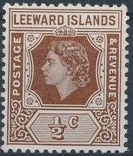 Leeward Islands 1954 Queen Elizabeth II