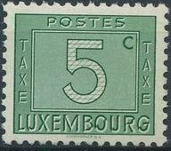 Luxembourg 1946 Postage Due Stamps - Numerals