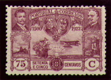 Portugal 1923 First flight Lisbon Brazil m.jpg
