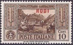 Italy (Aegean Islands)-Rodi 1932 50th Anniversary of the Death of Giuseppe Garibaldi a.jpg