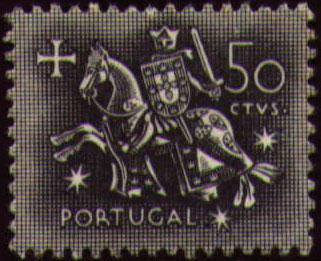 Portugal 1953 Definitives - Medieval Knight d.jpg