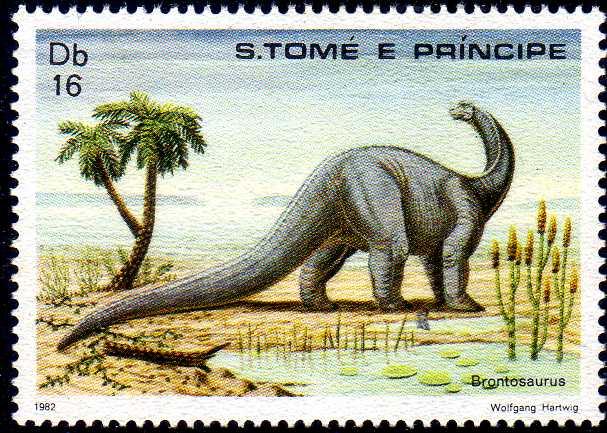 St Thomas and Prince 1982 Dinosaurs e.jpg