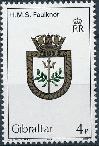 Gibraltar 1983 Royal Navy Crests 2nd Group