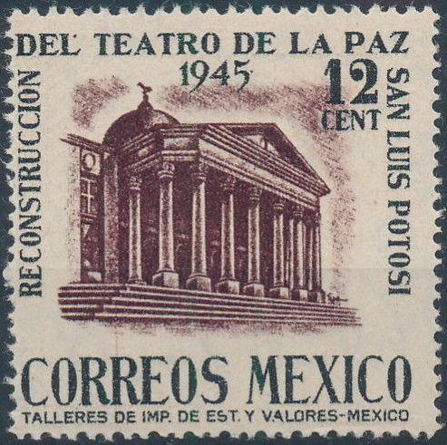 Mexico 1945 Reconstruction of the Teatro de la Paz (Regular Mail)