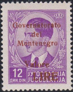 Montenegro 1941 Yugoslavia Stamps Surcharged under Italian Occupation q.jpg