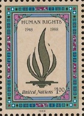 United Nations-New York 1988 40th Anniversary of Declaration of Human Rights