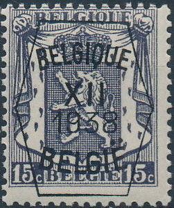 Belgium 1938 Coat of Arms - Precancel (12th Group)