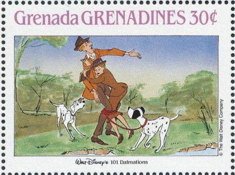 Grenada Grenadines 1988 The Disney Animal Stories in Postage Stamps 3a.jpg