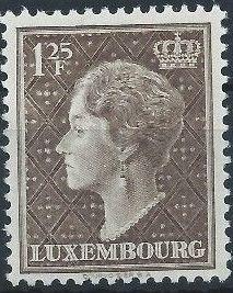 Luxembourg 1951 Grand Duchess Charlotte (3rd Group) d.jpg