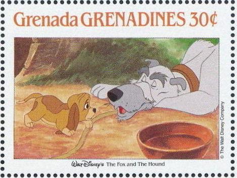 Grenada Grenadines 1988 The Disney Animal Stories in Postage Stamps 2e.jpg