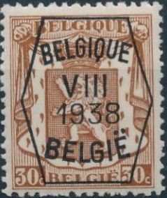 Belgium 1938 Coat of Arms - Precancel (8th Group) d.jpg